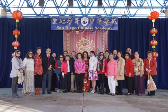 聖地牙哥中華學苑舉行31週年校慶暨春節園遊會,僑學界領袖共襄盛舉。(記者陳良玨/攝影)