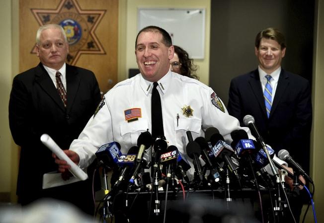 巴倫郡(Barron County)警長費茲傑羅(圖中,Chris Fitzgerald)。美聯社