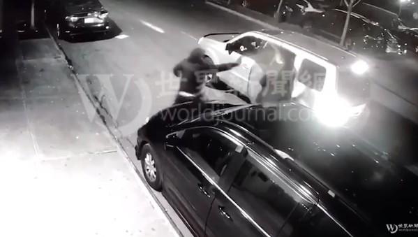 死者為31歲的華裔顧(Gu,音譯)姓男子,案發前他剛從夜總會裡出來,正準備上一輛電召車時,從其身後衝上來一個頭戴面具的人向華男連開數槍。截圖影片/讀者提供