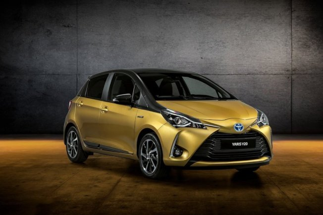 Toyota Yaris Y20紀念版,採用金色與黑灰雙色外觀。(Toyota)