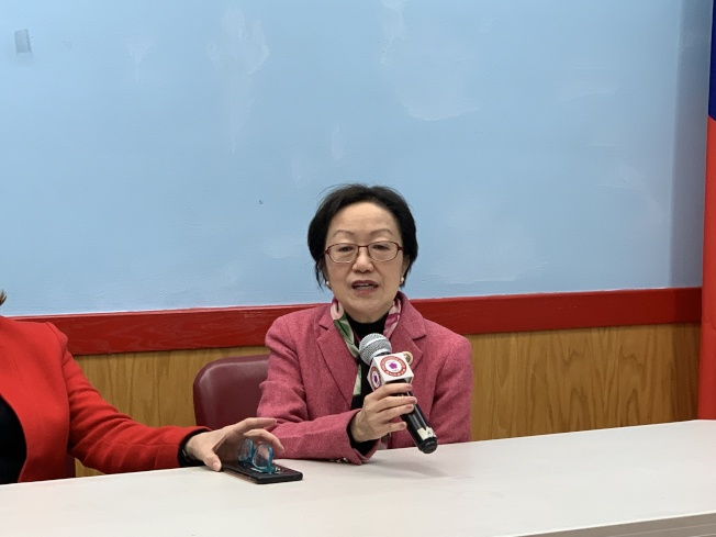 陳倩雯表示,看候選人是否能夠勝任,不應只局限於某些議題,更要關注其過往成就。(記者和釗宇/攝影)
