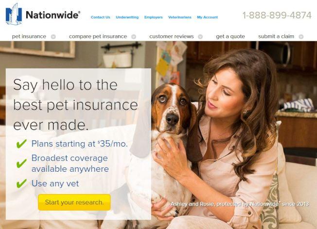 Nationwide是寵物保險業界最大企業。(Nationwide)