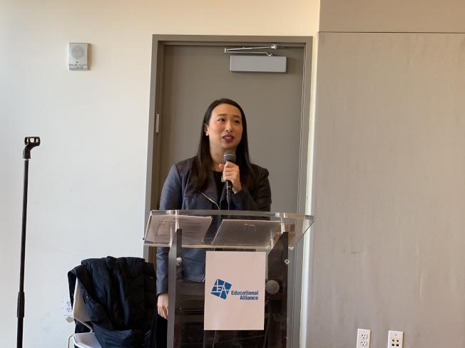 牛毓琳表示,移民和住房問題將是未來一年的立法重點。(記者和釗宇/攝影)
