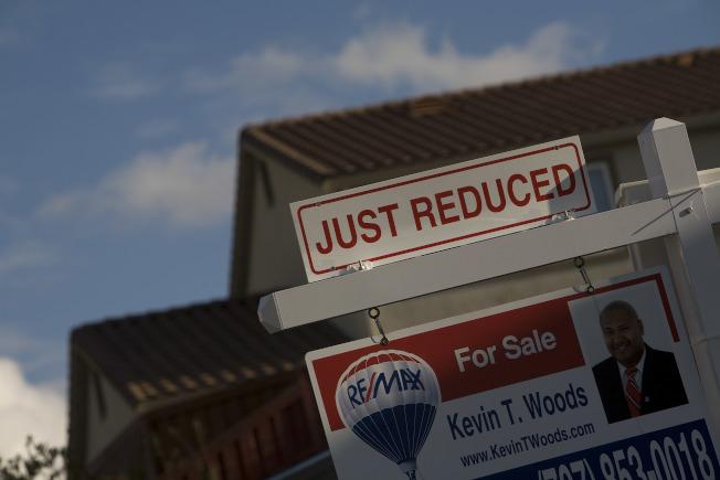 數據顯示,灣區12月的房屋成交量大跌20%。(Getty Images)