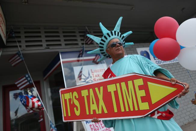 大約7640萬美國人,也就是44.4%不用支付2018年聯邦所得稅。(Getty Images)