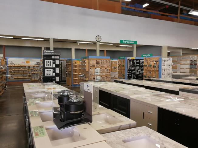 劍鋒建材公司集櫥櫃、石材、地板等建築物料的專門店。