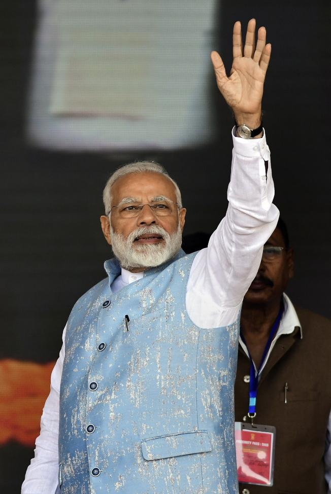印度總理莫迪9日前往中印邊境敏感爭議地段。(歐新社)