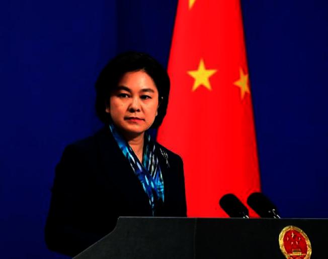 中國外交部發言人華春瑩表示,中國政府從不承認所謂的「阿魯納恰爾邦」,堅決反對印度領導人到中印邊界東段地區活動。(取材自中共外交部)