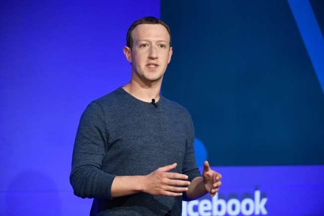 臉書創辦人查克柏格以655億元的身家,穩居40歲以下白手起家的彭博億萬富翁指數第一位。(Getty Images)