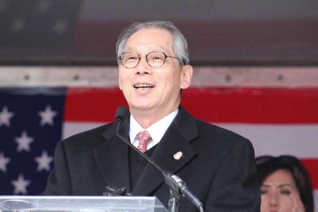 高碩泰表示,今年正值「台灣關係法」40周年,在這歷史的重要節點與包瑟慶祝中國新年意義重大。(記者張筠 / 攝影)