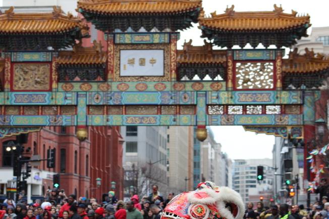 堪稱華府規模最大的文化活動,2019農曆新春遊行10日在華府中國城舉行。(記者張筠 / 攝影)