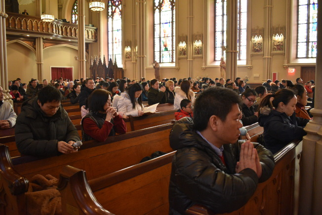 聖博德天主堂擁有眾多華人教友。(記者顏嘉瑩/攝影)