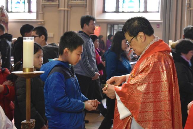 聖博德天主堂擁有眾多華人教友。(記者顏嘉瑩╱攝影)