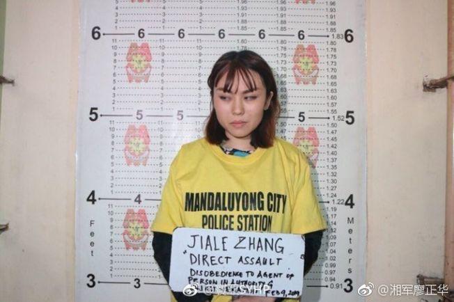 当事中国留学生在事件后被警方逮捕。(视频截图)