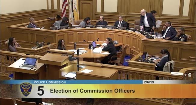 三名由市議會任命的警察委員在四名市長任命警委投票後,立即離席抗議。(取材自警局網站)