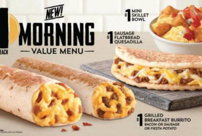 去年速食店整體餐飲銷售額持平,但早餐銷售額成長了1%。(Taco Bell)