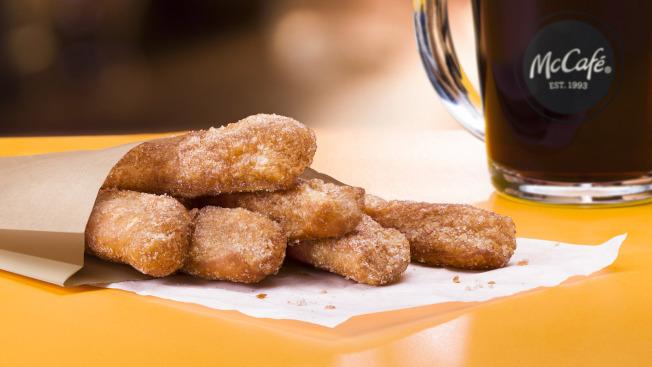 甜甜圈棒(Donut Sticks)是麥當勞最新的早餐產品。(麥當勞)