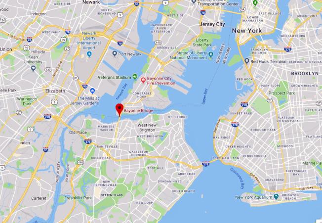 貝玉揚橋位置圖。(谷歌地圖)