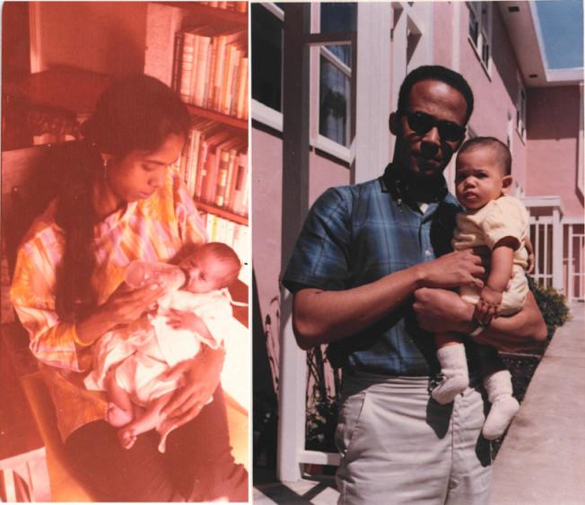 賀錦麗幼時與父母親的合照。(賀錦麗提供)