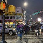 雨雪夾襲 紐約出行難