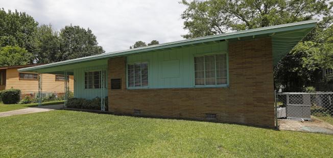 參院12日通過土地保育法,內容包括在密西西比州增設紀念民權領袖艾維斯夫婦的國家紀念區。圖為艾維斯夫婦位於密州傑克森的住屋。(美聯社)