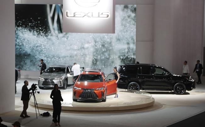 豐田豪華車凌志 (Lexus)連續八年蟬聯J.D. Power調查性能最可靠的廠牌。圖為凌志車款上月參加「北美國際汽車展」。(美聯社)