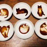 一倒醬油就浮現貓  創意醬油碟 變身畫布