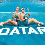 網球╱詹家姊妹 雨中笑納卡達多哈女網賽第2冠
