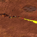 載12人熱氣球 急降委利賀沼澤區