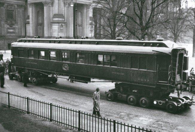 1918年簽訂第一次世界大戰停戰協定的車廂。(美聯社)