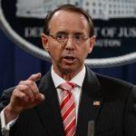 川普才批他「叛國」 司法部副部長羅森斯坦傳3月下台