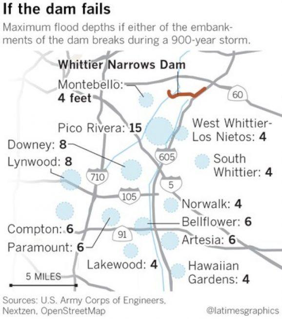 巨型風暴若襲加州 聖蓋博山下防洪壩恐難負荷