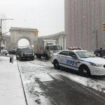 降雪視線差 曼哈頓大橋2車擦撞