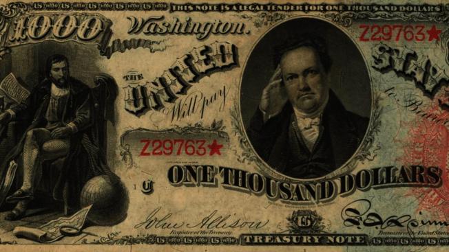 三张19世纪罕见美钞 下周拍卖可望以$800万成交