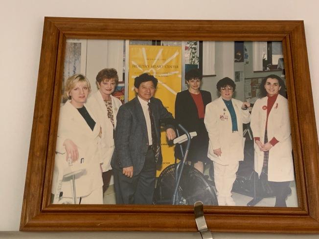 陳燦世參與心臟復健行動,協助心臟病患者術後復健。(記者賴蕙榆/攝影)