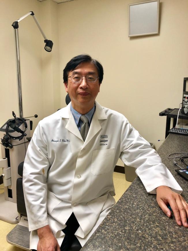 Loma Linda大学副教授、视网膜专科医师范同宙。(记者胡清扬/摄影)