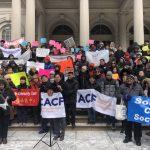 爭公平預算 紐約45亞裔團體上街頭