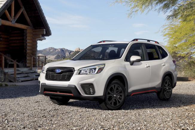 日本汽車製造商速霸陸(SUBARU)有兩款汽車因可能有煞車燈不亮等的瑕疵,所以宣布召回海內外226萬8841輛車子。圖為多功能房車Forester。美聯社