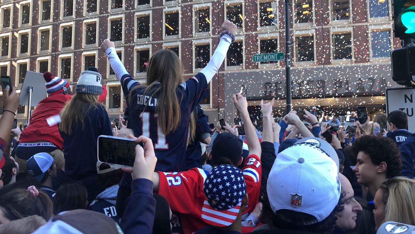新英格蘭愛國者隊贏下超級盃冠軍,今日舉辦盛大遊行,參與民眾過百萬,或創紀錄。記者劉晨懿之/攝影
