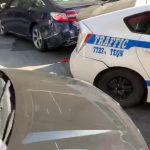 法拉盛鬧區 交警車失控撞壞多輛車