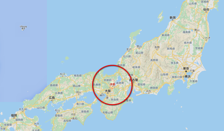 京都地理位置