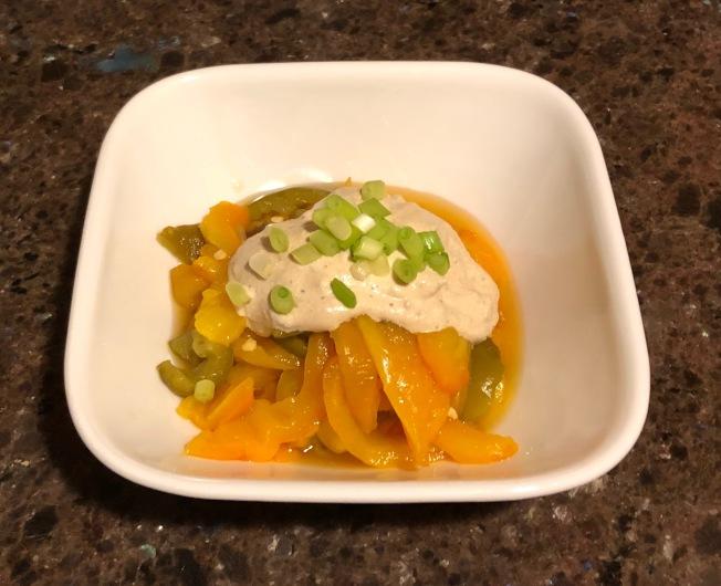優格芝麻醬拌烤甜椒