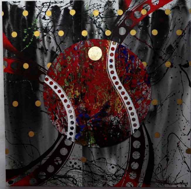 林世寶2017年繪畫作品「勝利的瞬間」。(林世寶提供)