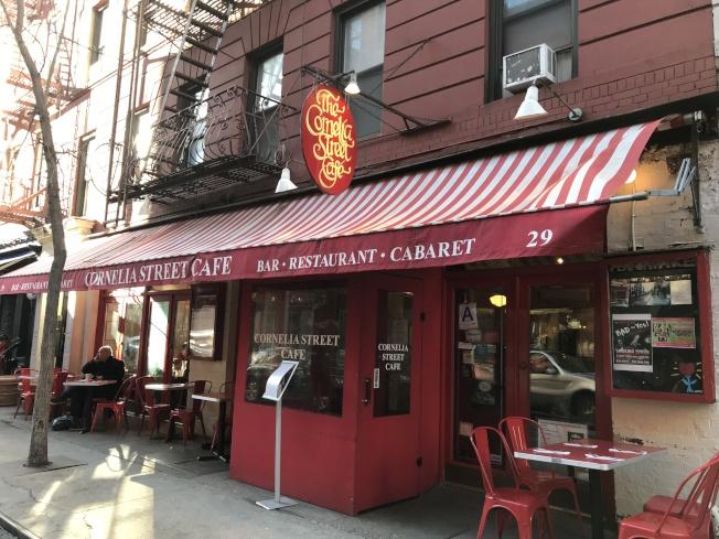 柯妮莉亞街咖啡館雖為紐約知名文化地標,但不堪租金高漲,在經營41年後歇業。(王若馨/攝影)