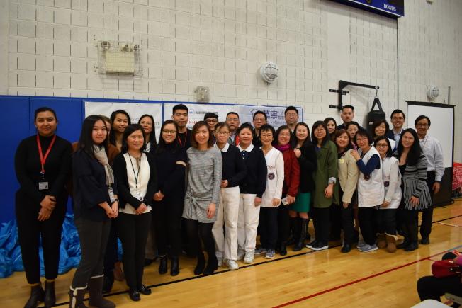 由15个医疗健康组织合办的「健康饮食博览会」2月28日在曼哈顿华埠举行。(记者颜嘉莹/摄影)