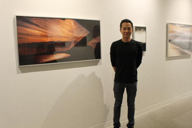 藝術家吳柏翰首次紐約個展「暗示語」。(記者張晨/攝影)