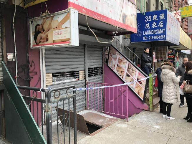 亞倫街35號店家於3日上午9時25分傳出火警。(記者顏嘉瑩/攝影)
