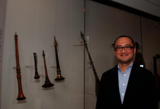 大都會博物館樂器館訪問學者蔡燦煌。(蘇彩菁/攝影)