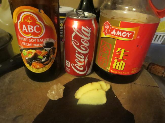 可樂排骨材料