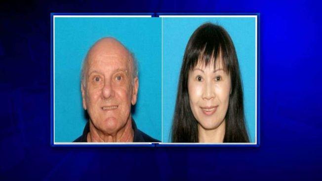 被控「協助賣淫」的華裔女子香梅與丈夫艾克哈德。(圖/警方提供)